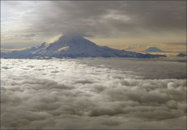 Rainier and Clouds