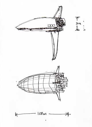 [ Dossier ] Anacreon : reconstruction 4021 Jumpship_Sketch